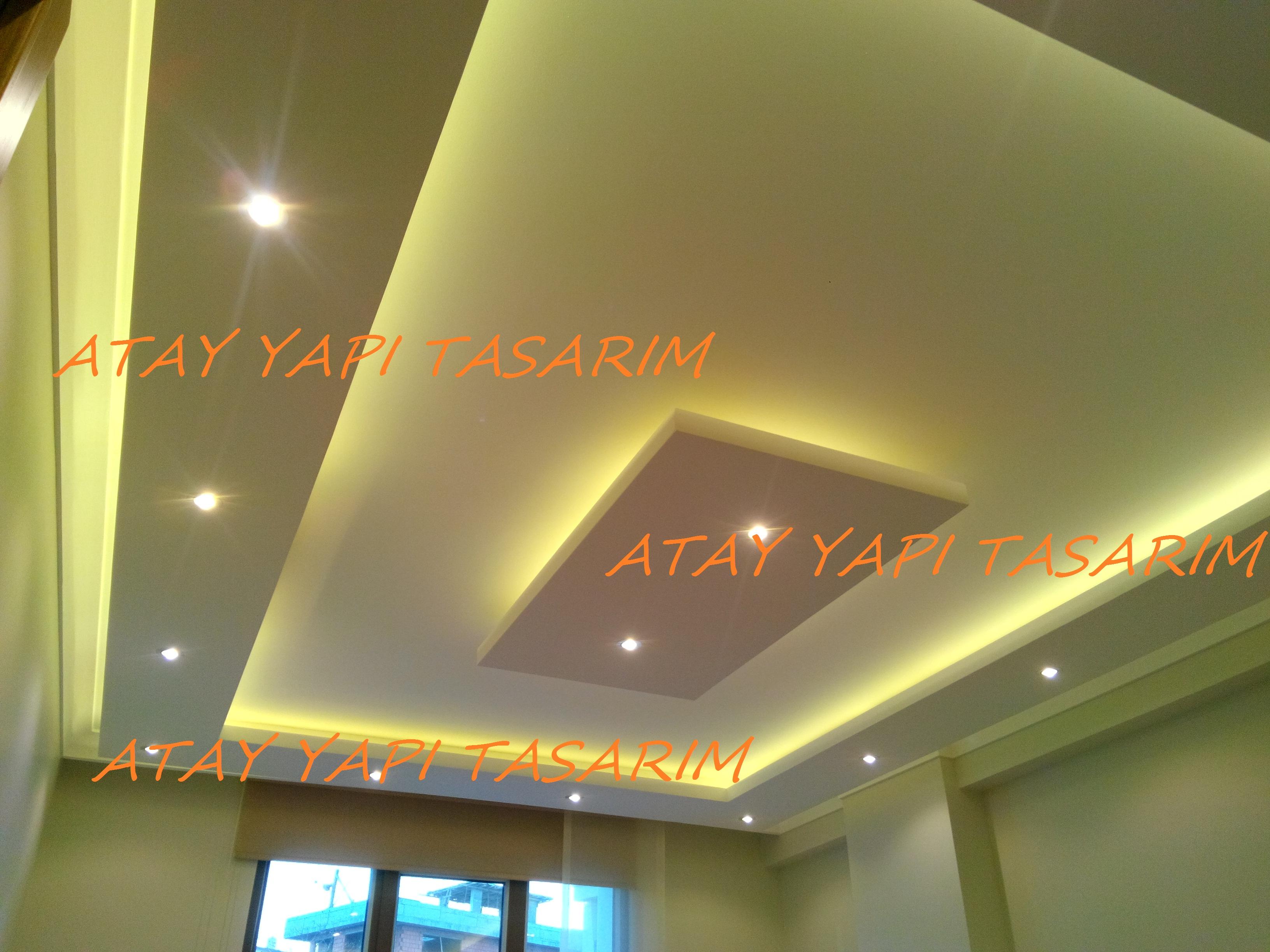 Asma tavan modern resimli isikli ev dekorasyon fikirleri - Gizli Kl Asma Tavan