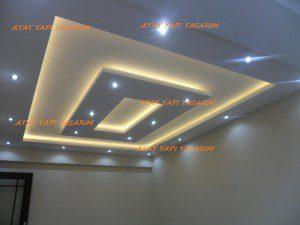 Asma Tavan Modelleri,Salon,Oturma Odası,Led,Ev için Asma Tavan,1