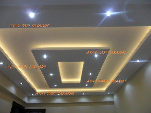 Asma Tavan Modelleri,Salon,Oturma Odası,Led,Ev için Asma Tavan,2