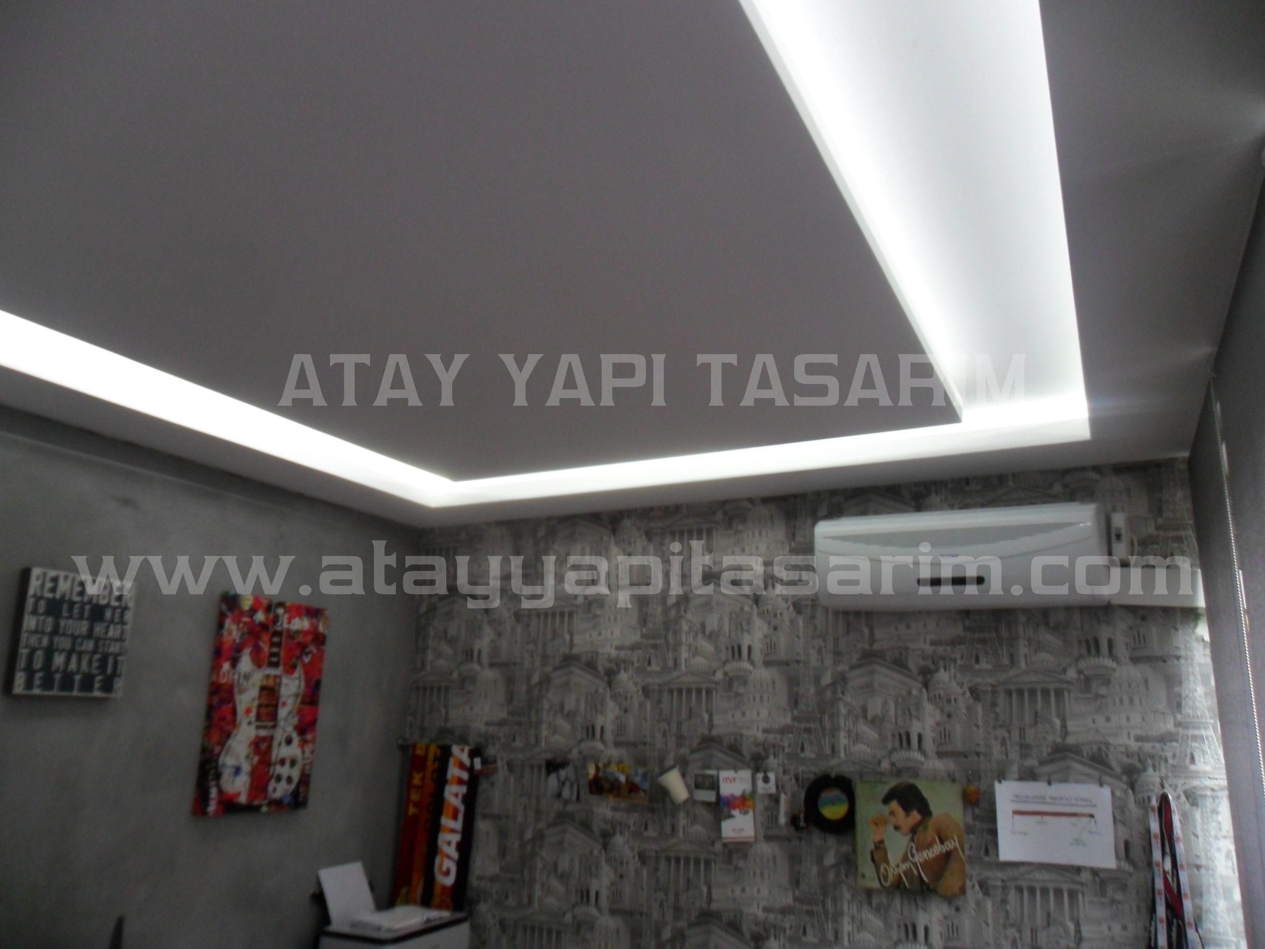 Led  ışıklı Asma Tavan Modelleri